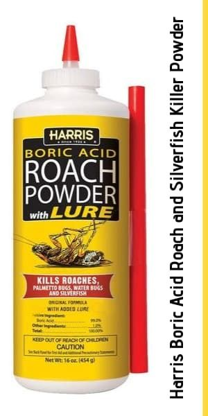 Harris Boric Acid Roach and Silverfish Killer Powder